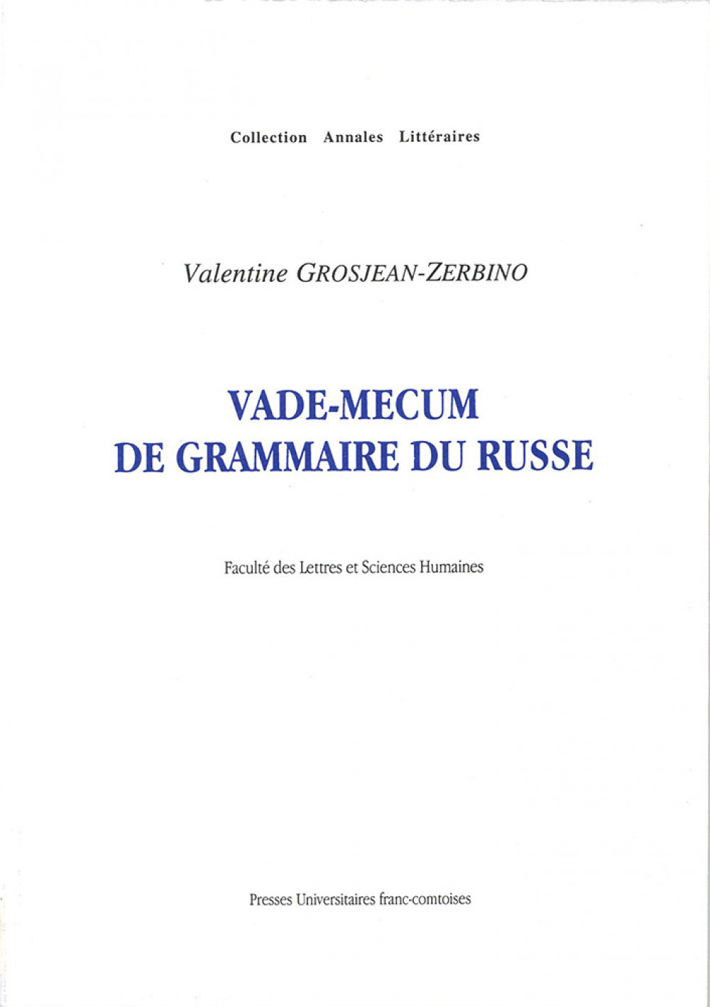 Vade-mecum de grammaire du russe