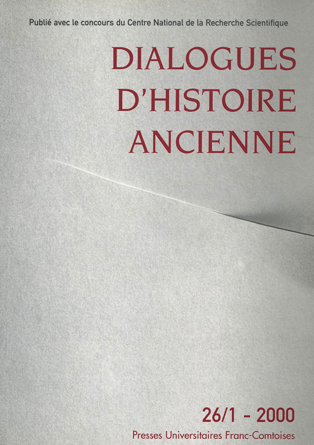 Dialogues d'Histoire Ancienne 26/1