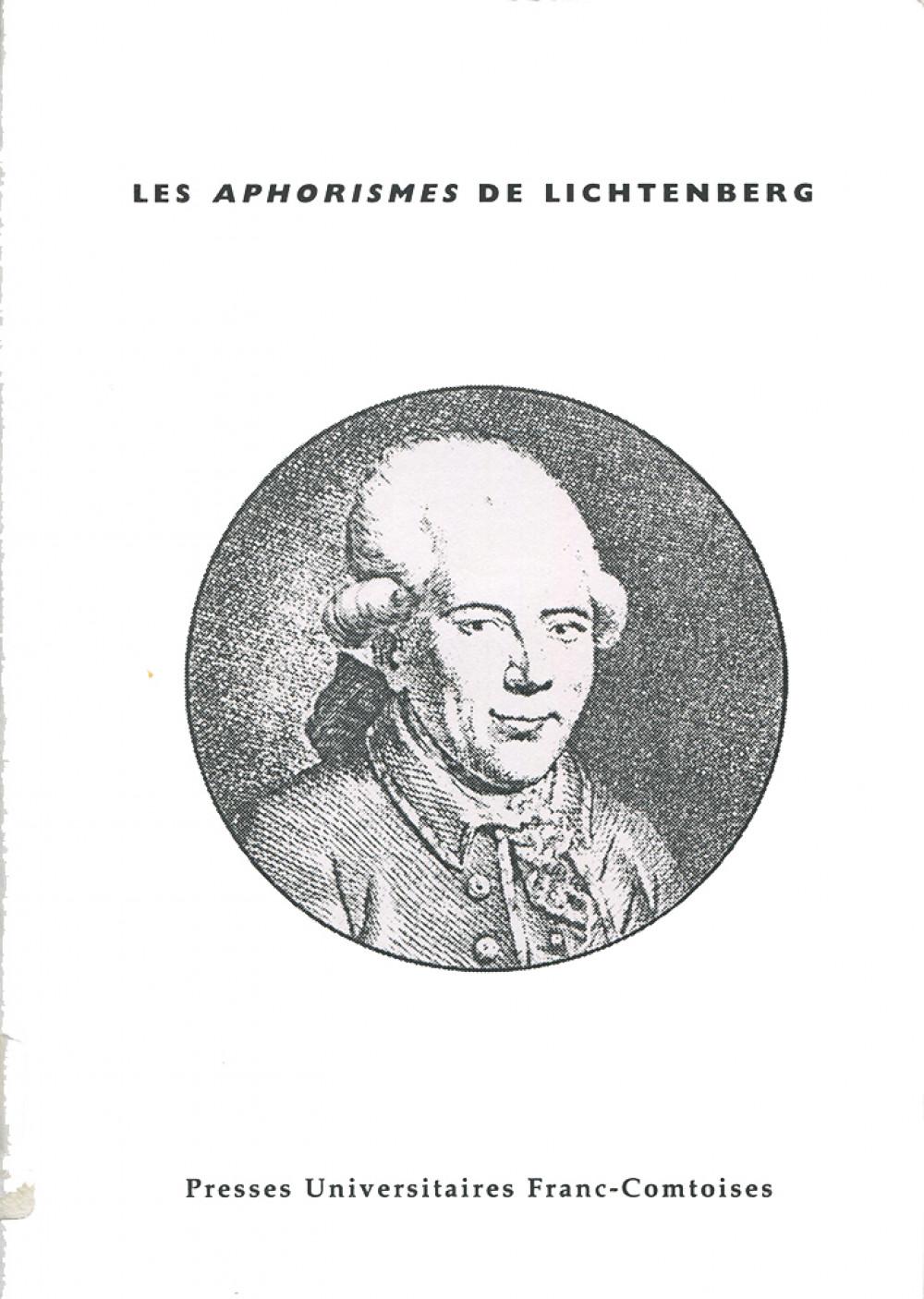 Les <em>Aphorismes</em> de Lichtenberg