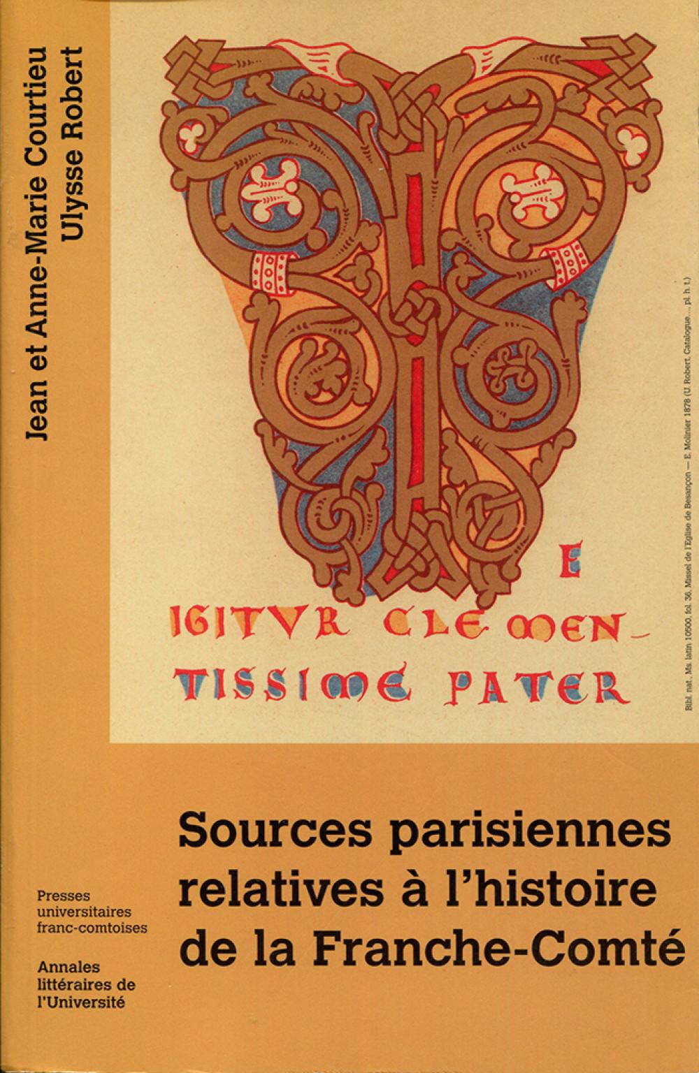 Sources parisiennes relatives à l'histoire de la Franche-Comté