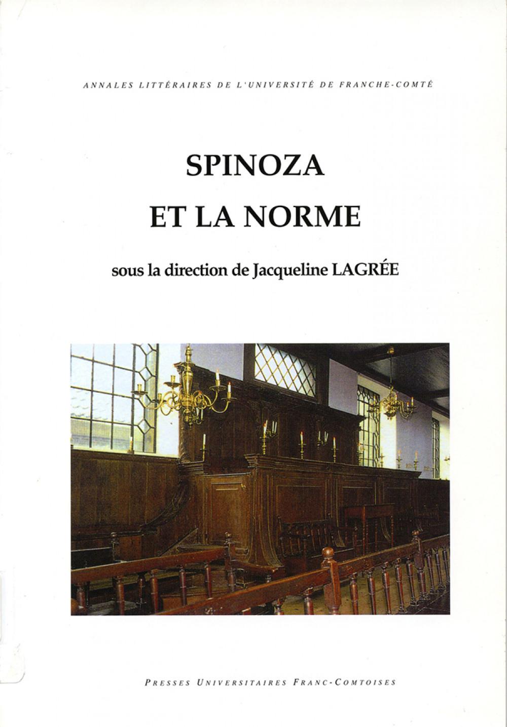 Spinoza et la norme