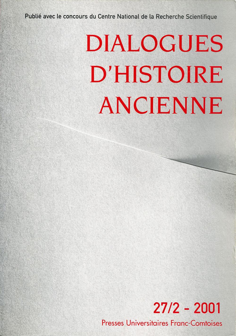 Dialogues d'Histoire Ancienne 27/2