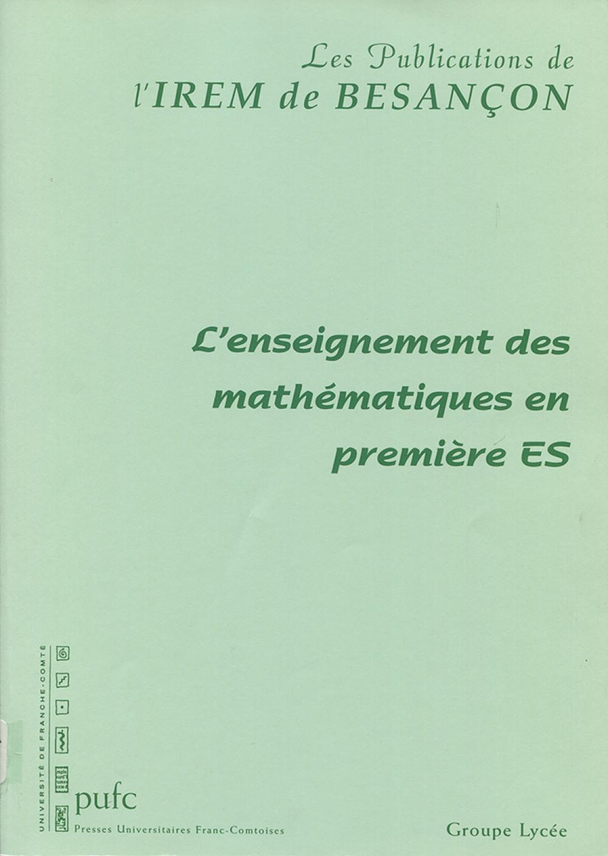 L'enseignement des mathématiques en première ES