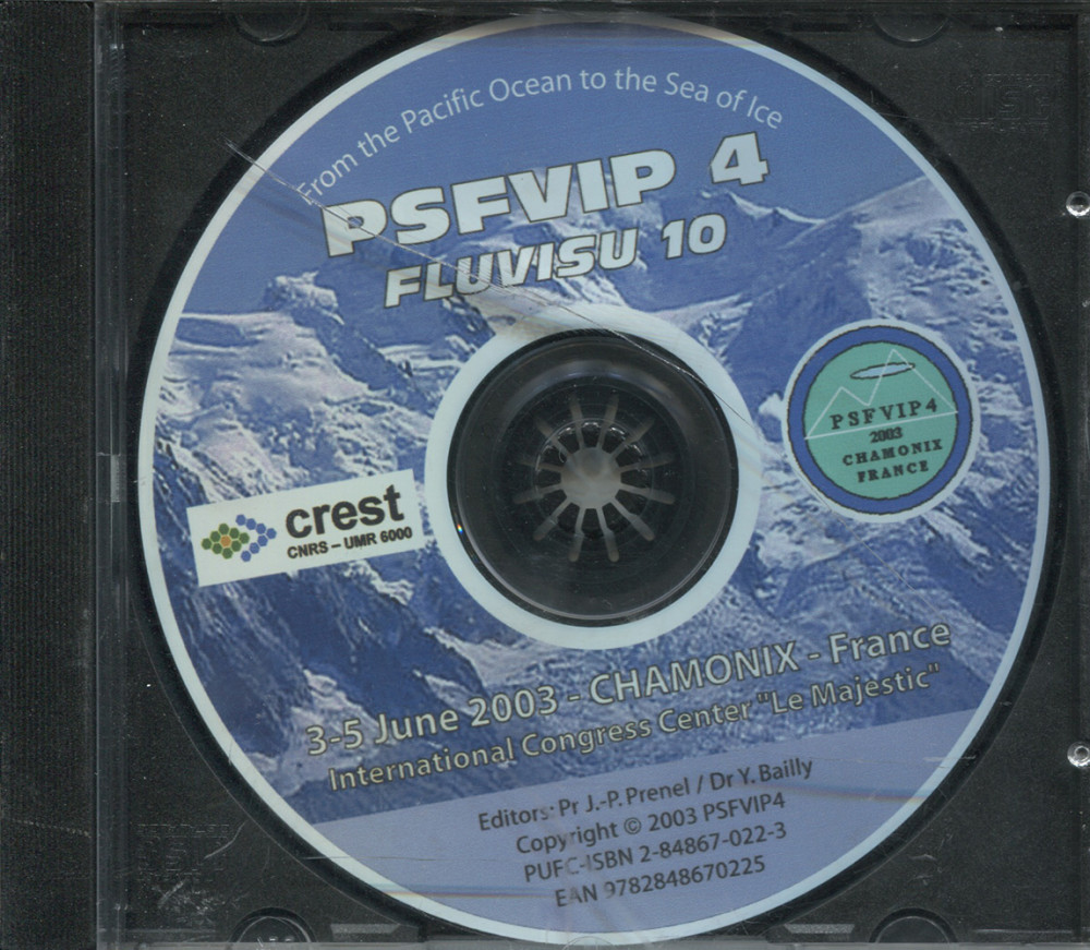 The 4<SUP>th</SUP> Pacific Symposium on flow visualization and Image Processing CD Rom