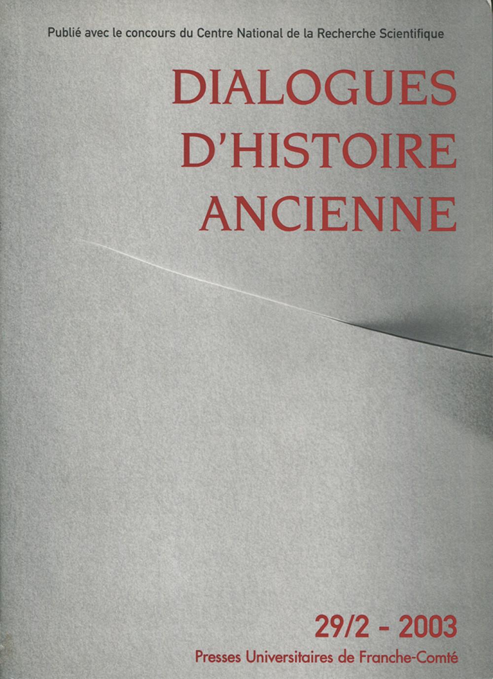Dialogues d'Histoire Ancienne 29/2