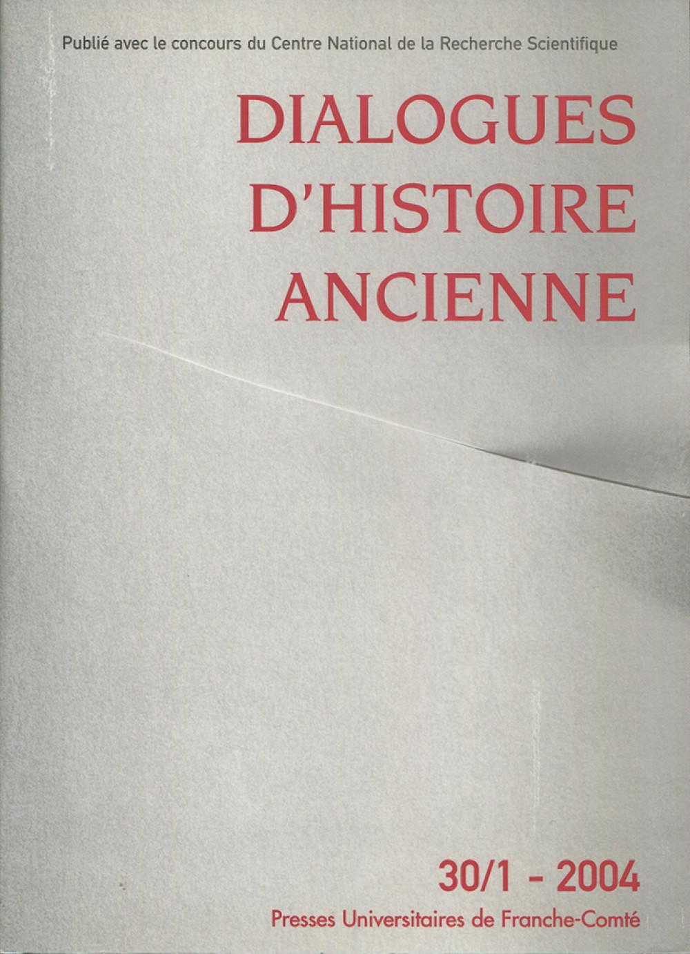 Dialogues d'histoire ancienne 30/1