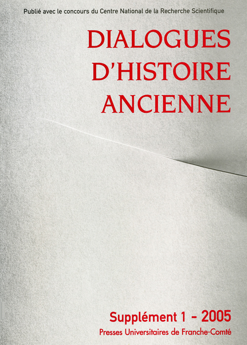 Dialogues d'Histoire Ancienne, supplément 1