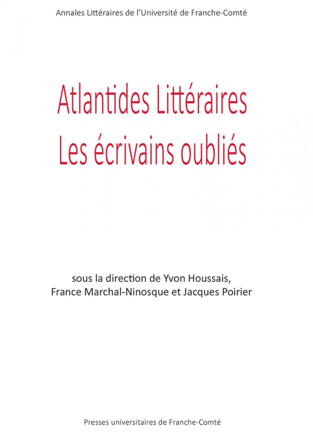 Couverture Atlantides littéraires
