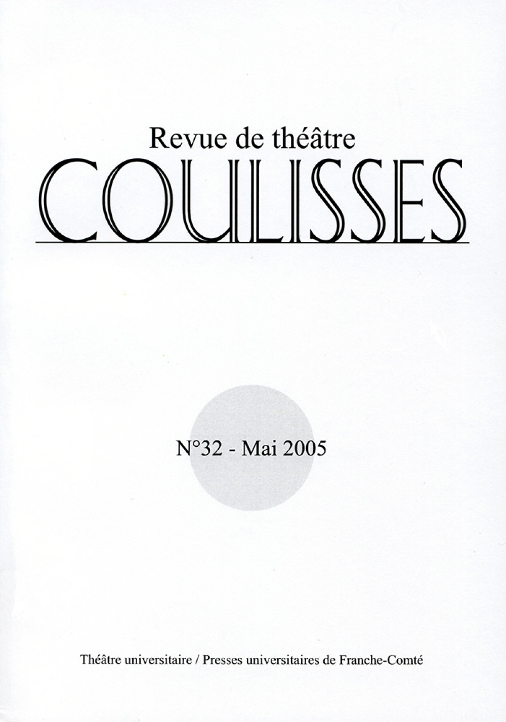 Coulisses 32