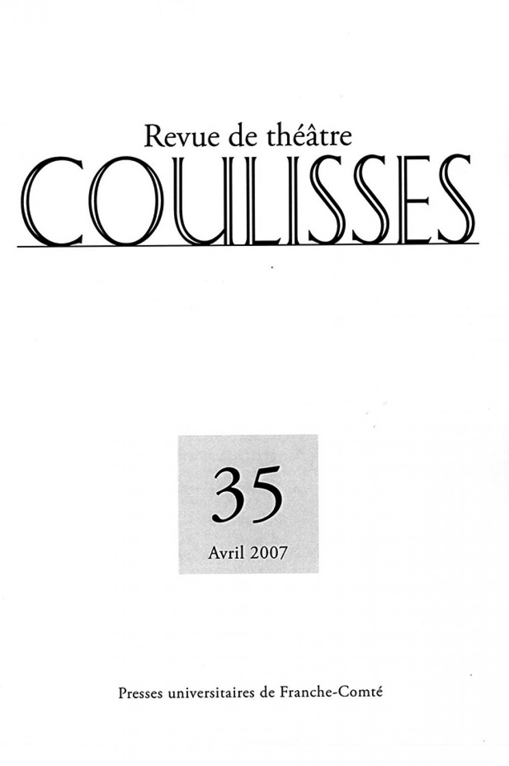 Coulisses 35