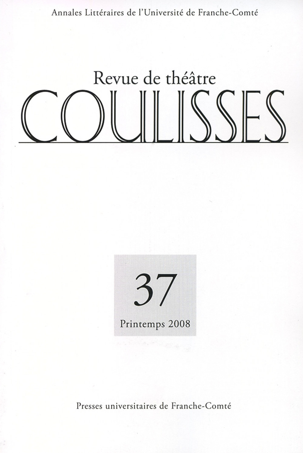 Coulisses 37