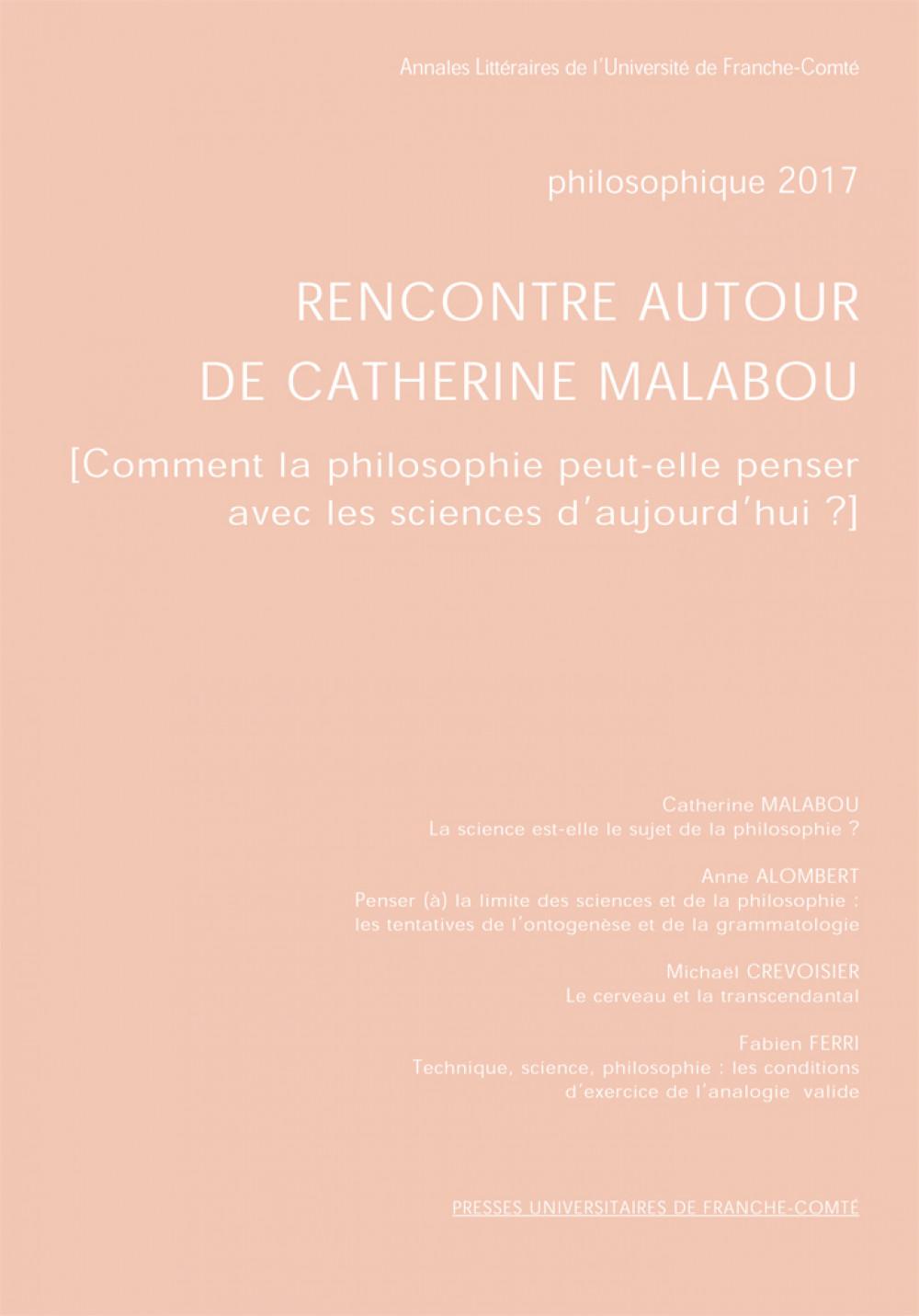 Rencontre autour de Catherine Malabou