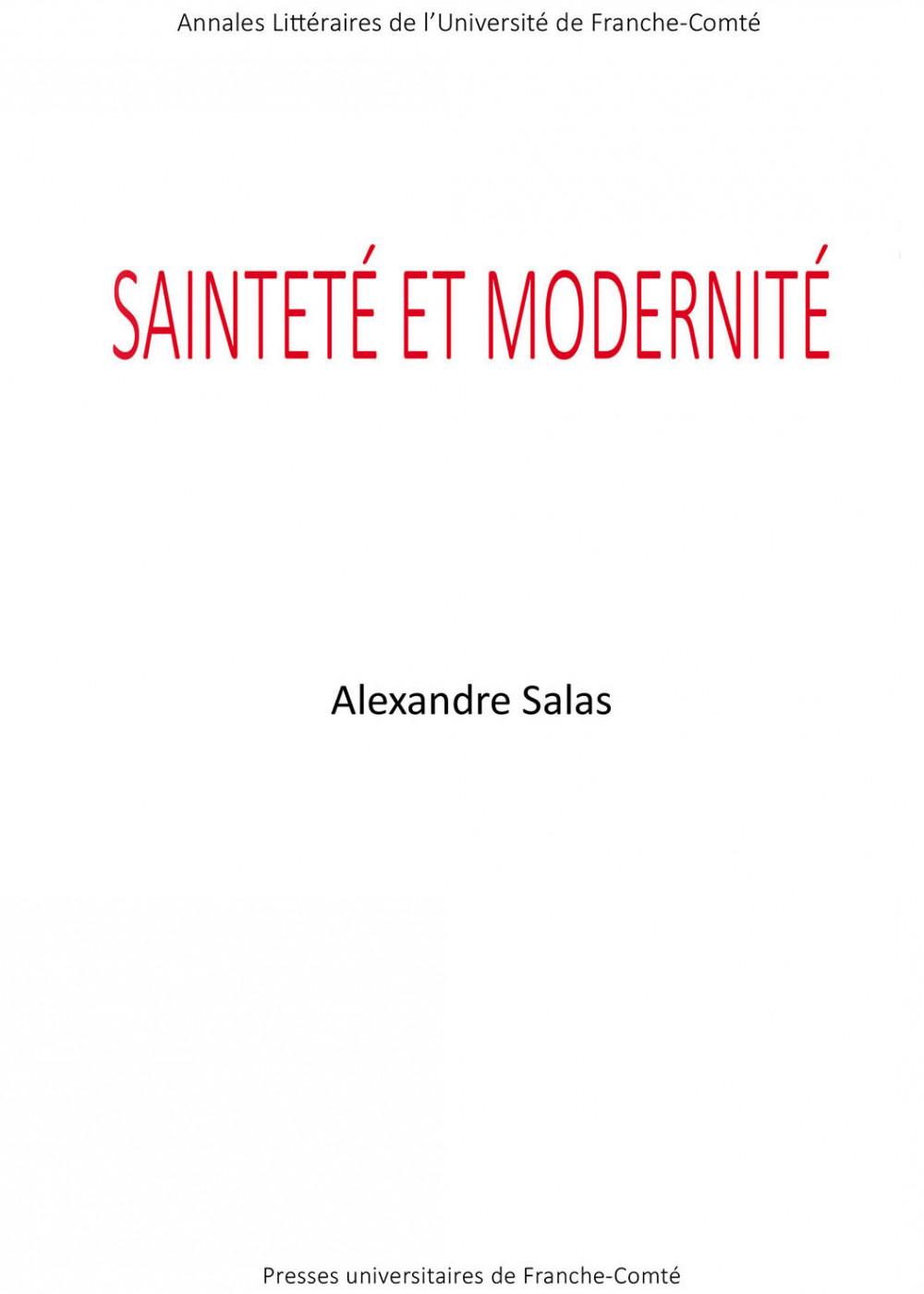 Sainteté et modernité ciuverture