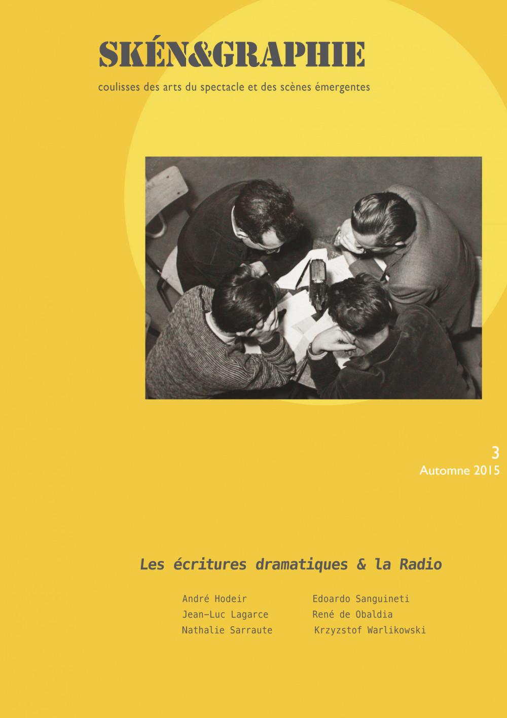 Les écritures dramatiques et la radio