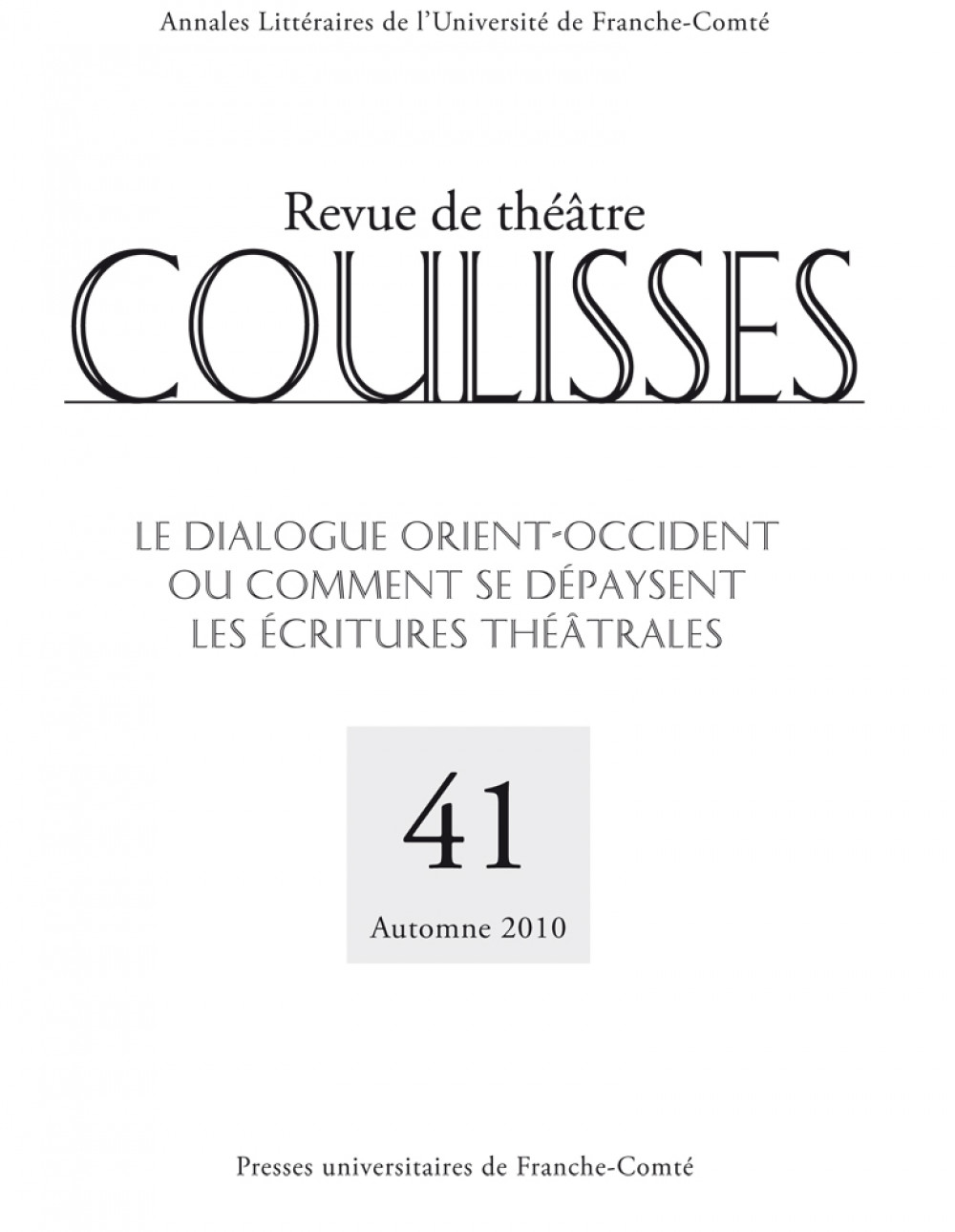 Coulisses 41