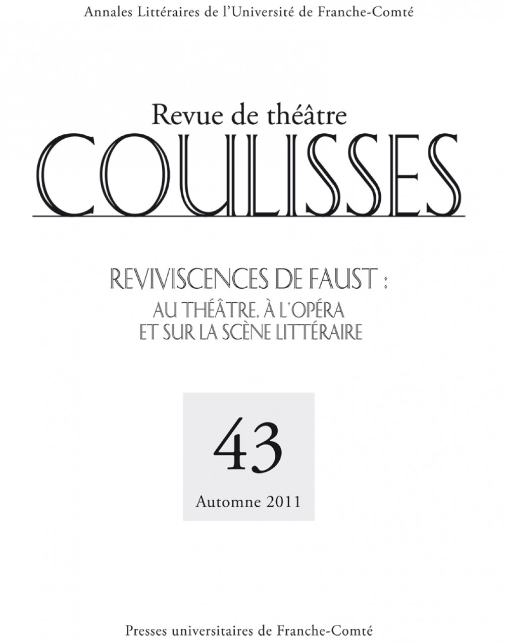 Coulisses 43