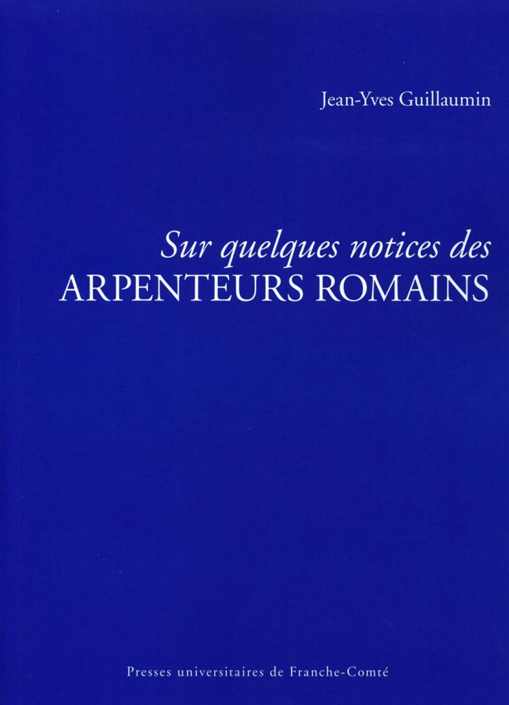 Sur quelques notices des arpenteurs romains