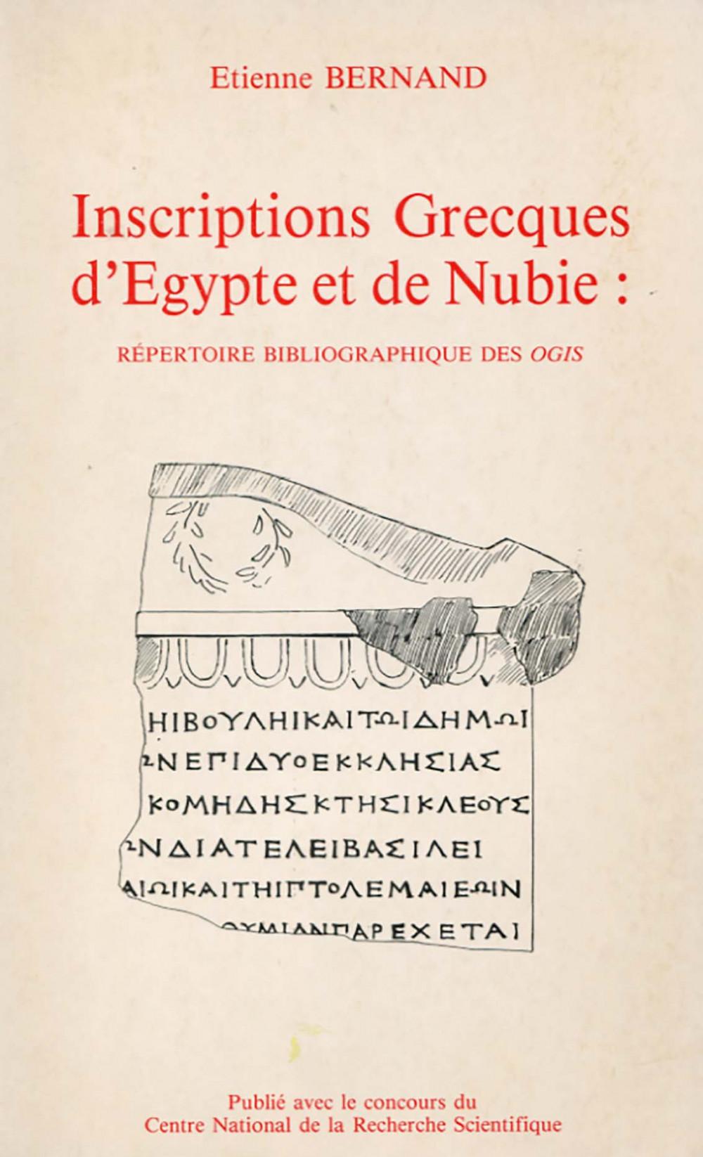 Inscriptions grecques d'Egypte et de Nubie
