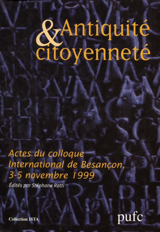 Antiquité & Citoyenneté
