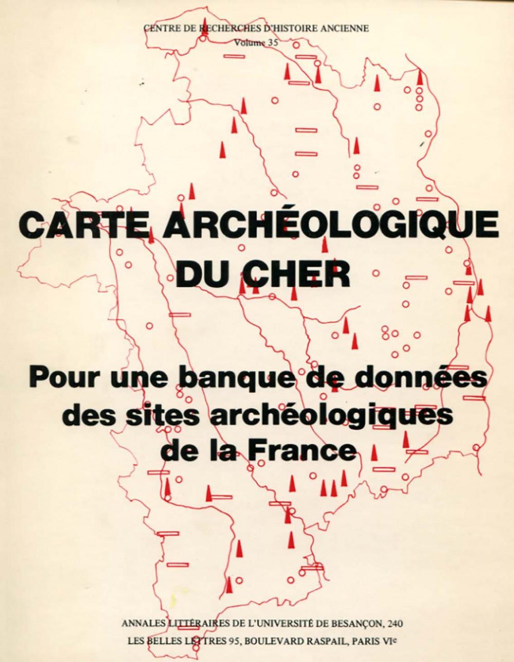 Carte archéologique du Cher