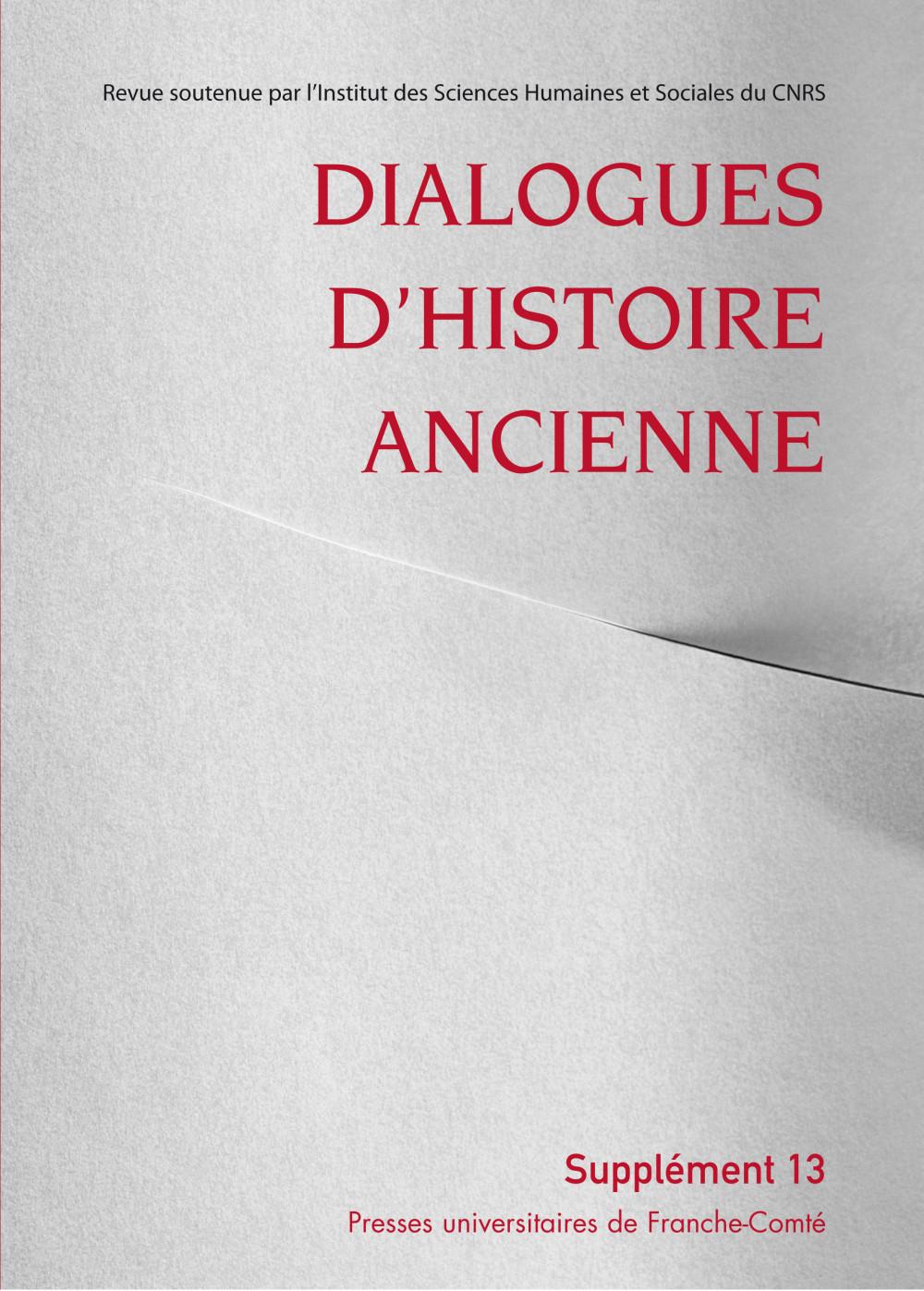 Dialogues d'Histoire Ancienne, supplément 13