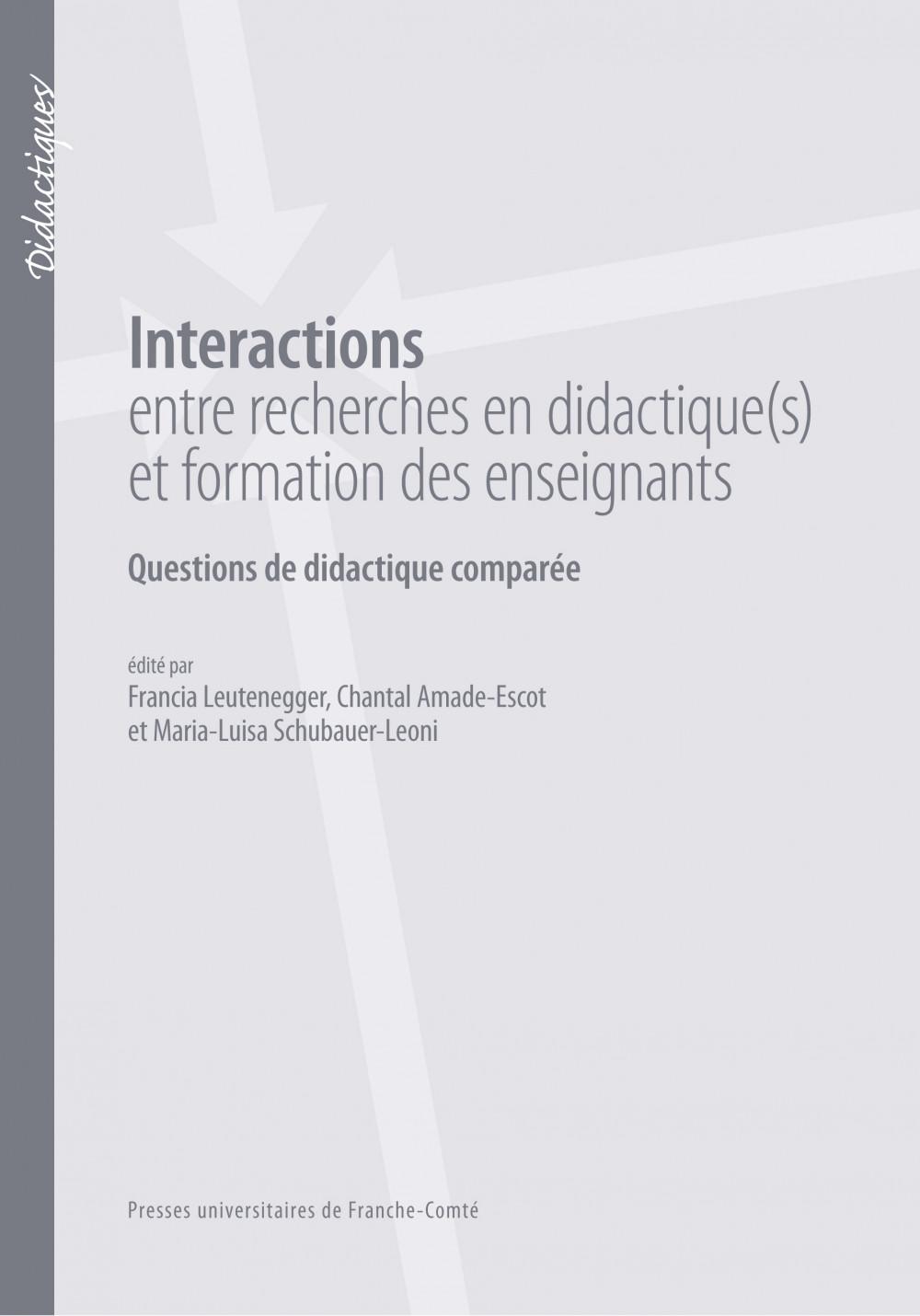 Interactions entre recherches en didactiques et formation des enseignants