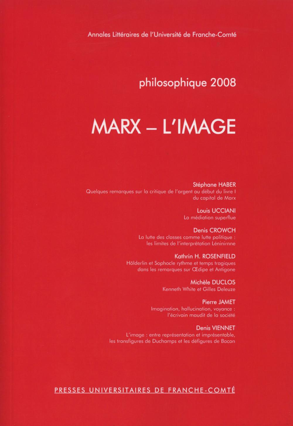 Philosophique 2008 : MARX