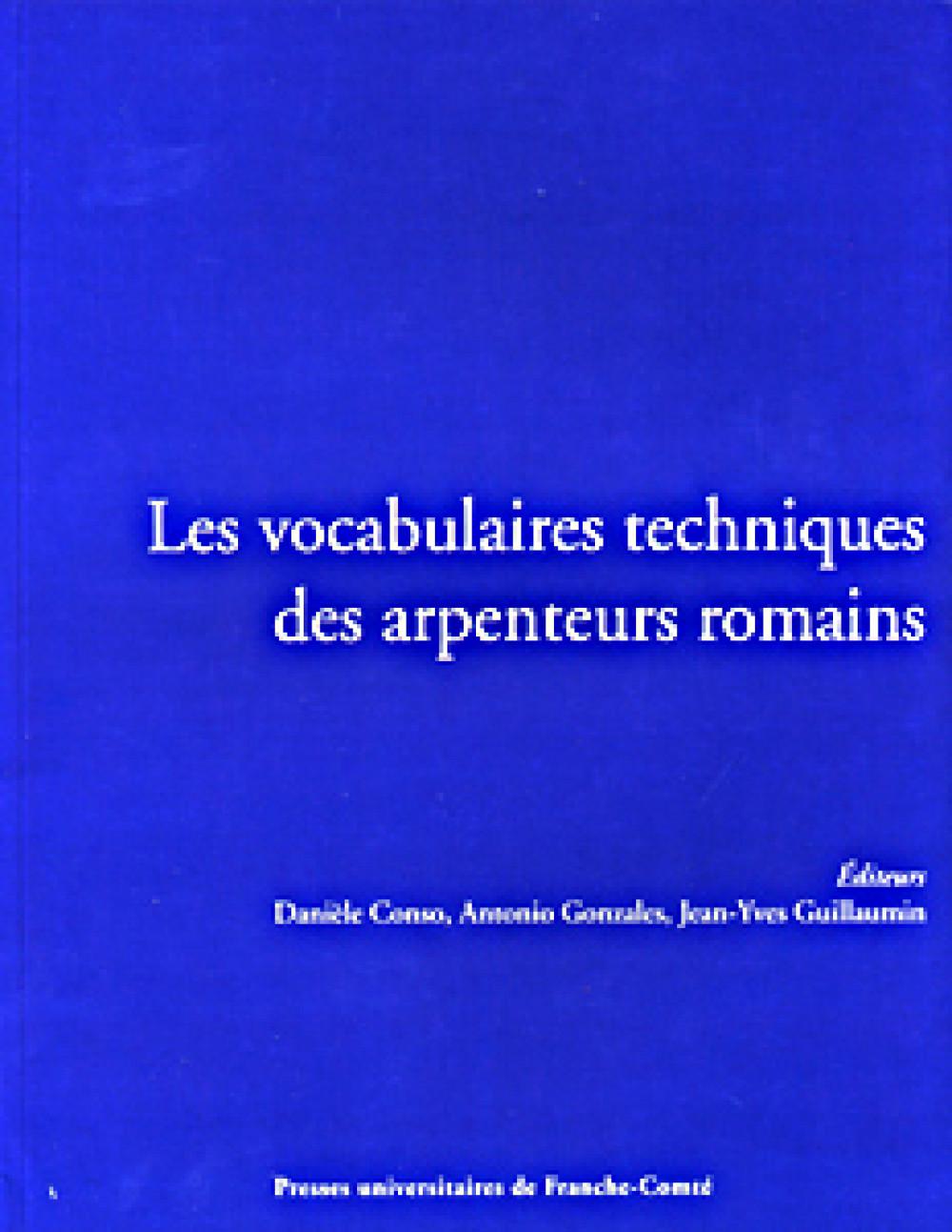 Les vocabulaires techniques des arpenteurs romains
