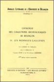 Catalogue des collections archéologiques de Besançon IV : les monnaies gauloises
