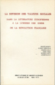 La révision des valeurs sociales dans la littérature européenne à la lumière des idées de la Révolution française