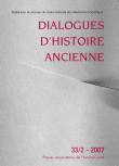 Dialogues d'Histoire Ancienne 33/2