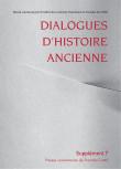 Dialogues d'Histoire Ancienne supplément 7