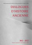 Dialogues d'Histoire Ancienne 38/2
