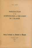 Introduction à la morphologie du Sud-Ouest de l'Islande