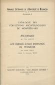 Catalogue des collections archéologiques de Montbéliard : Historique