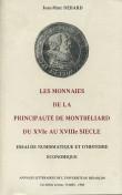 Les monnaies de la principauté de Montbéliard du xvie au XVIIIe siècle