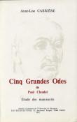 Cinq grandes odes de Paul Claudel