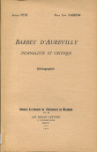 Journaliste et critique de Barbey d'Aurevilly (bibliographie)