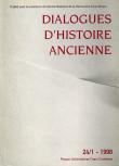Dialogues d'Histoire Ancienne 24/1