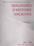 Dialogues d'Histoire Ancienne 25/2
