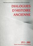 Dialogues d'Histoire Ancienne 27/1