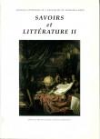 Savoirs et littérature II
