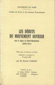 Les débuts du mouvement ouvrier dans la région Belfort-Montbéliard (1870-1914)