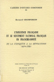 L'influence française et le sentiment national français en Franche-Comté de la conquête