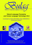 BULAG 37 – Natural Language Processing and Human Language Technology 2012