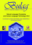 BULAG 38 – Natural Language Processing and Human Language Technology 2013