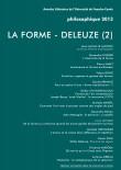 Philosophique 2013 : La Forme