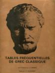 Tables fréquentielles de Grec classique