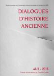 Dialogues d'Histoire Ancienne 41/2