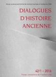 Dialogues d'Histoire Ancienne 42/1